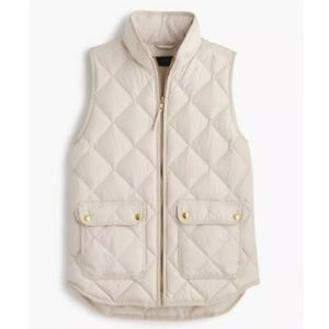 J.Crew Ivory Excursion Quilted Puffer Vest
